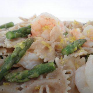 Asparagus Shrimp Farfelle Recipe