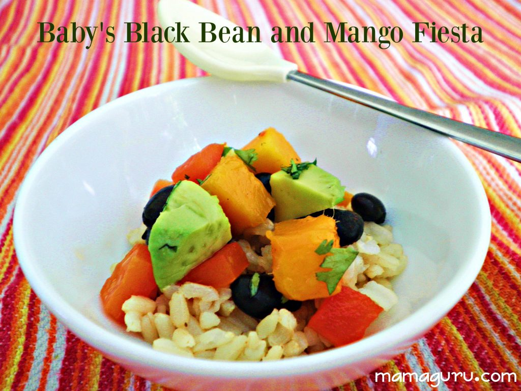 Black Bean and Mango Baby Food