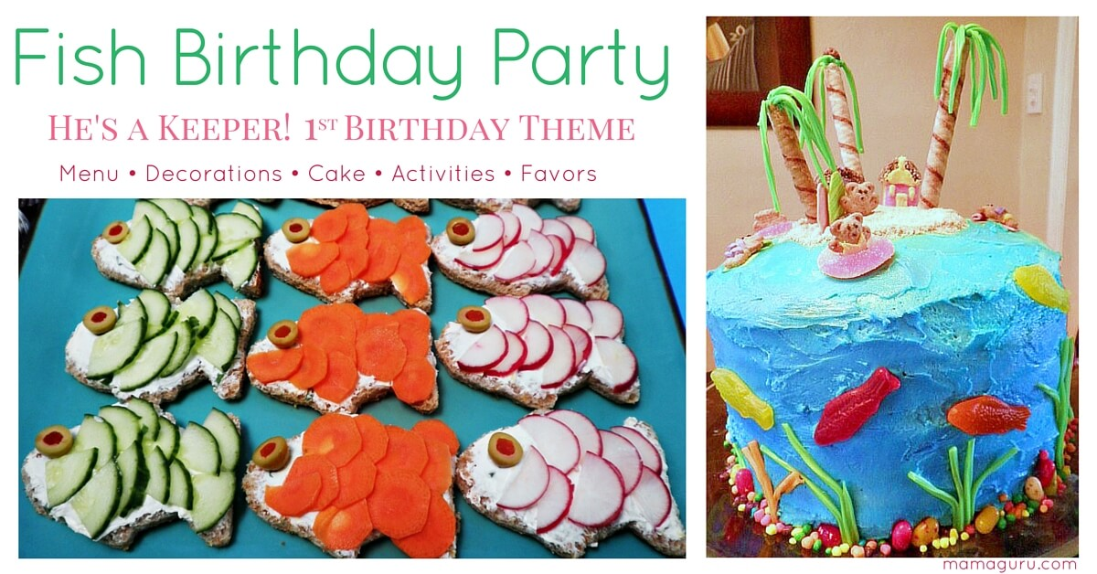 Fish birthday party a 1st birthday theme mamaguru for First birthday fishing theme