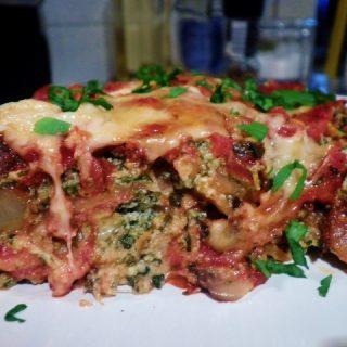 Classic Spinach- Mushroom Lasagna