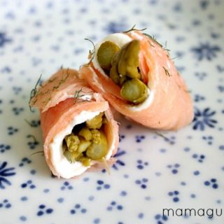 Smoked Salmon and Pickled Asparagus Sushi
