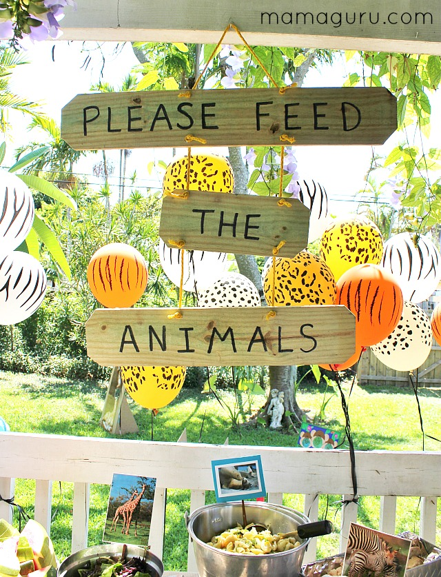 Zoo Birthday Party DIY