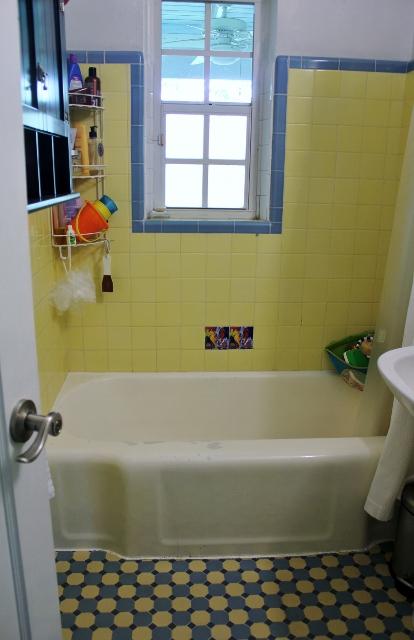 Bathroom Renovation Before Mamaguru - 1940s bathroom floor tile