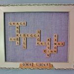 Scrabble Craft Using Family Names