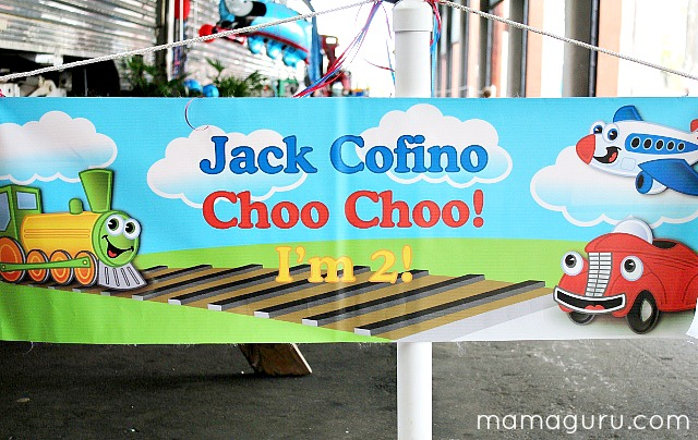 Train Birthday Party Sign: Choo Choo I'm 2!