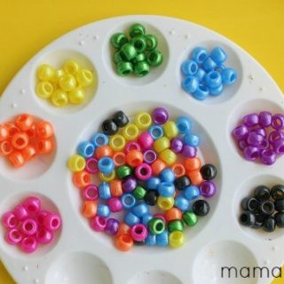 4 Preschool Activities with Small Beads