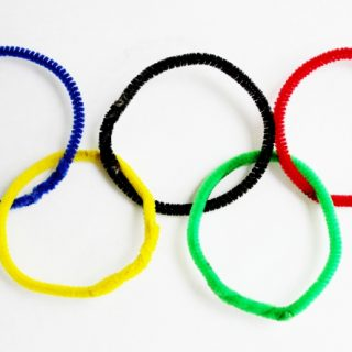 Easy Olympics Craft for Toddler