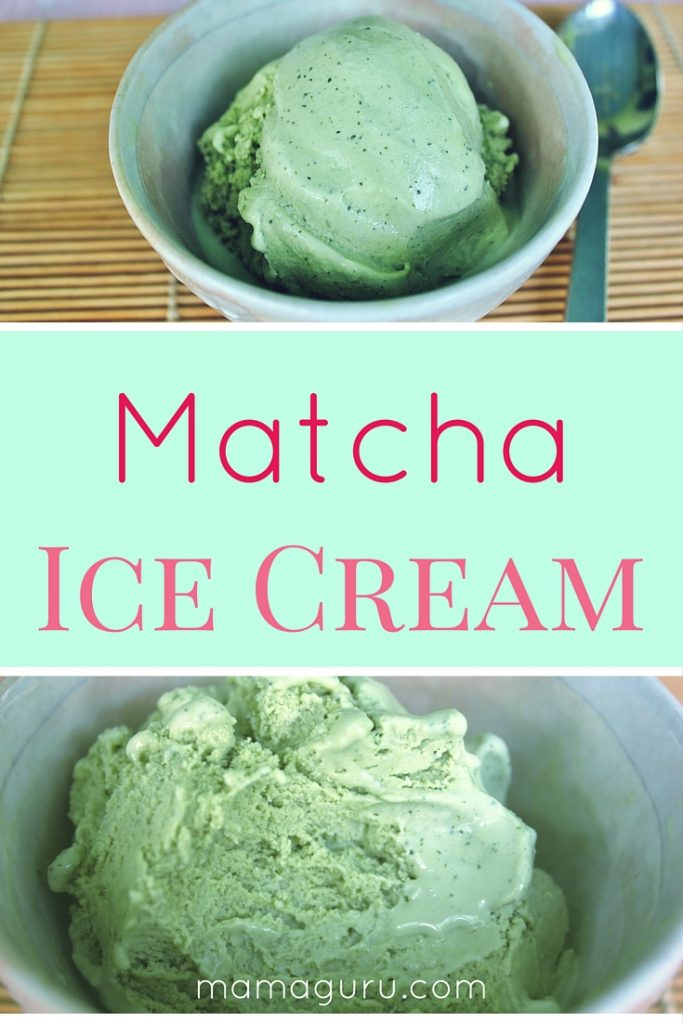 Matcha Ice Cream recipe, a luscious ice cream the flavor of green tea