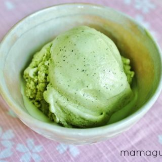 A luscious recipe for homemade Green tea Ice Cream using matcha powder.