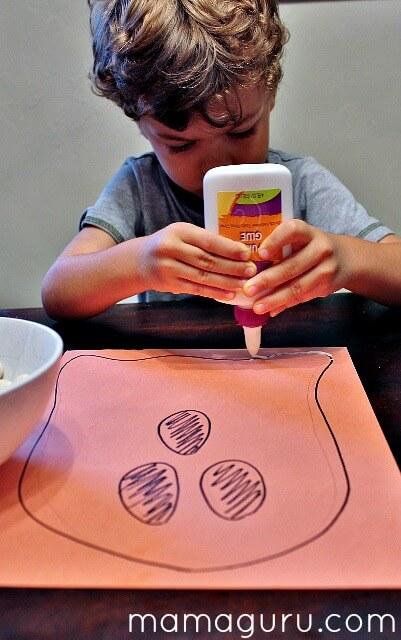 Halloween Preschool Craft: A Mean Bean Ghost