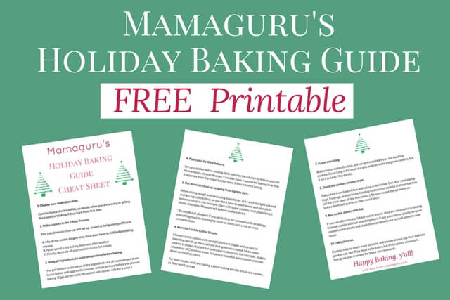 Free Holiday Baking Guide Printable