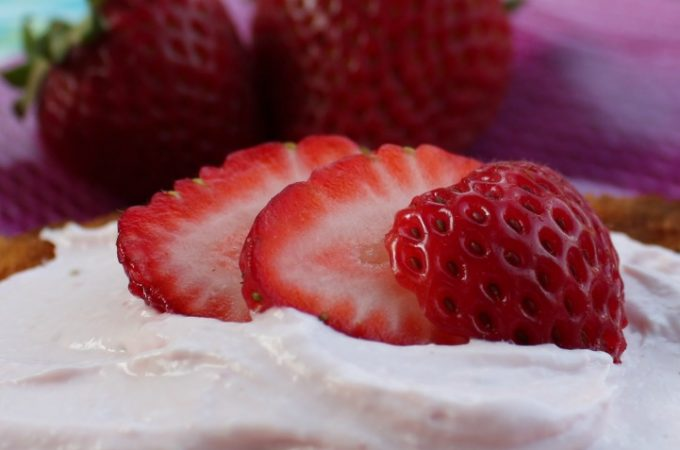 Whipped Cream Cheese recipe, strawberry flavor