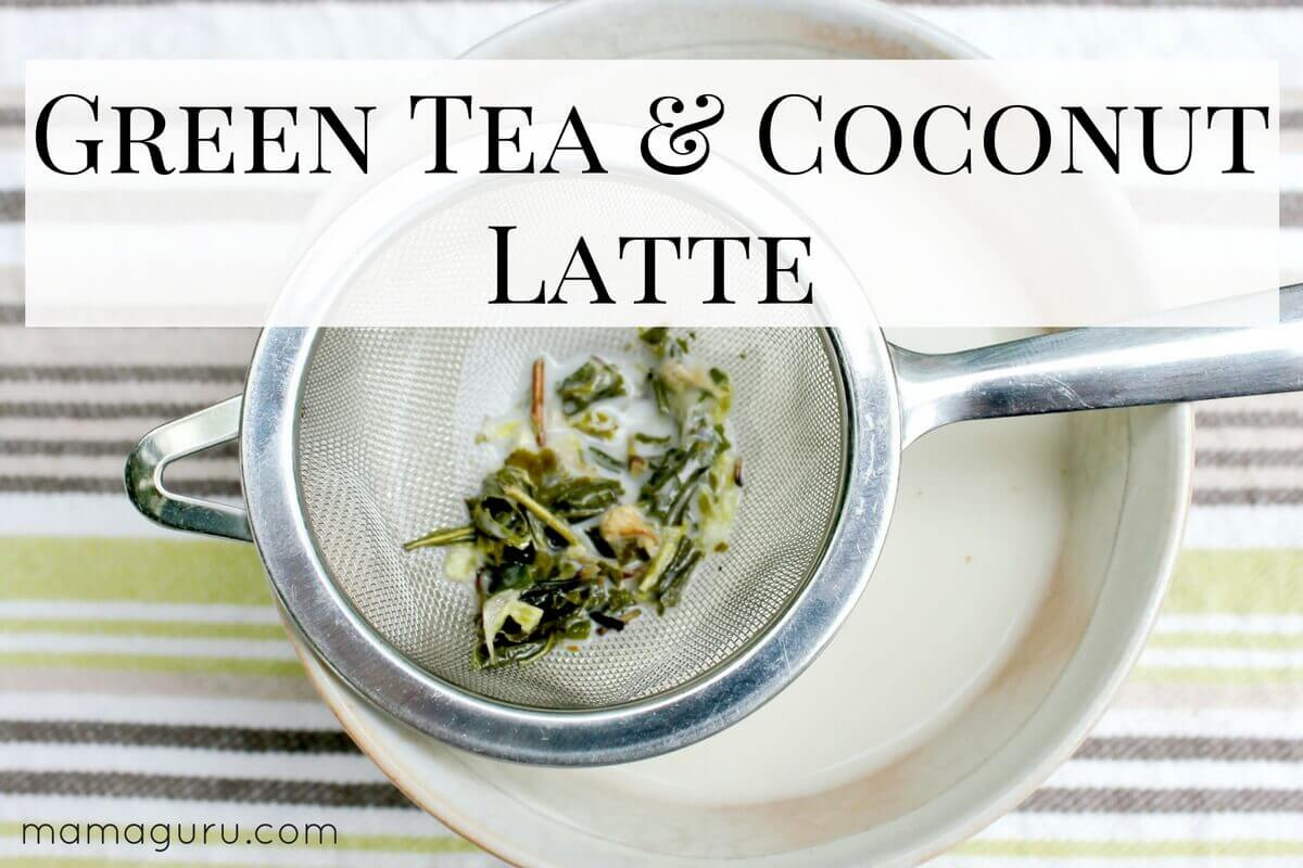 how to make green tea latte with coconut milk