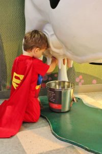 A dairy lover, we discovered that Superman prefers unpasturized milk.