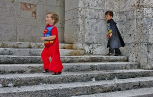 Finally, he met up with his pal, Batman, who confirmed that it wasa slow crime day all around.
