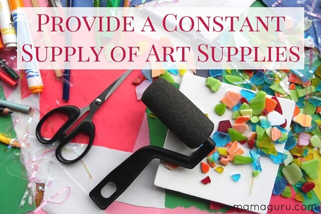 Provide a Constant Supply of Art Supplies
