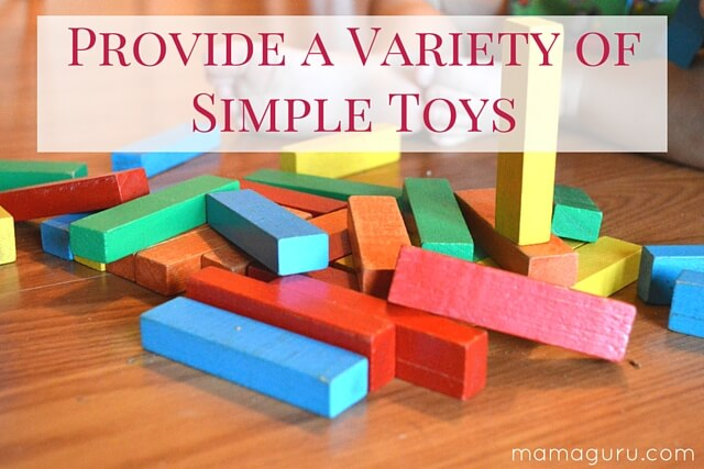 Provide a Variety of Simple Toys