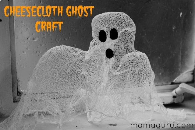 Cheesecloth Ghost Craft - Mamaguru