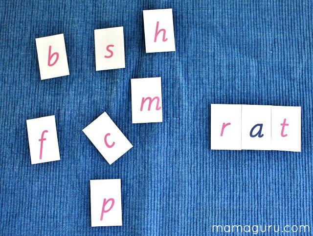 Montessori Movable Alphabet DIY