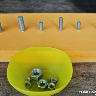 Montessori Nuts and Bolts Board: DIY and Lesson Plans