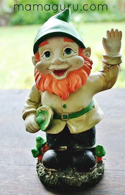 Garden Gnome to Leprechaun Makeover