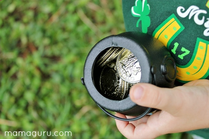 St. Patrick's Day Preschool Party: Child with a pot of gold