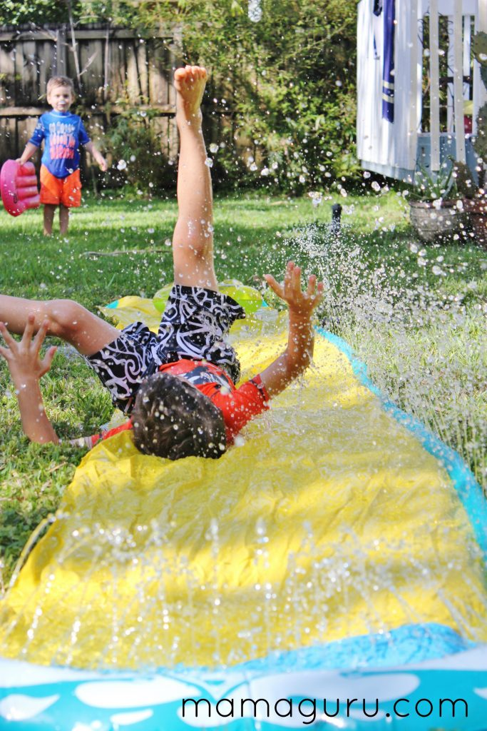 Summer activity, slip and slide