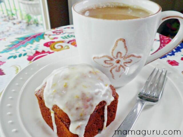 Pumpkin Spice Mini Cakes with Orange Maple Glaze