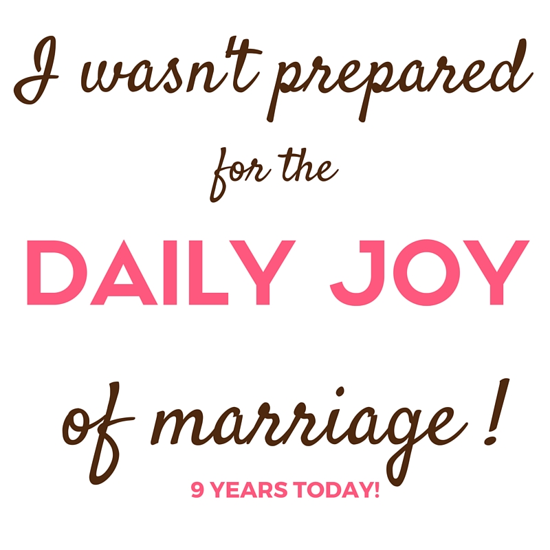 the daily joy of marriage, mamaguru meme, 9 year anniversary