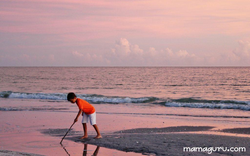 pink sunset on sanibel island